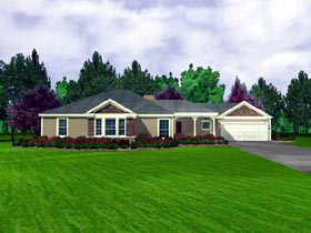 Country House Plan 95701 Elevation