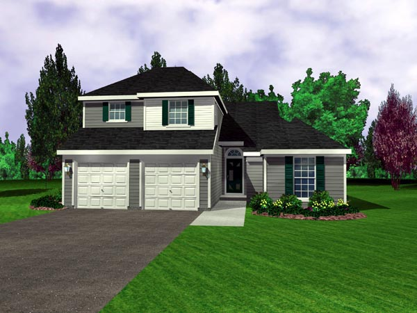 House Plan 95704 with 3 Beds, 3 Baths, 2 Car Garage Elevation