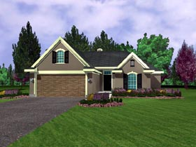 European House Plan 95705 Elevation