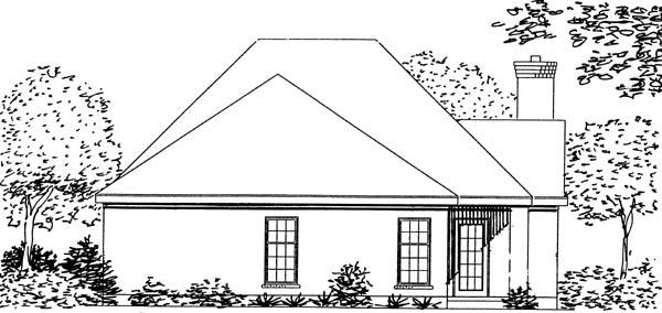 European House Plan 95709 Rear Elevation