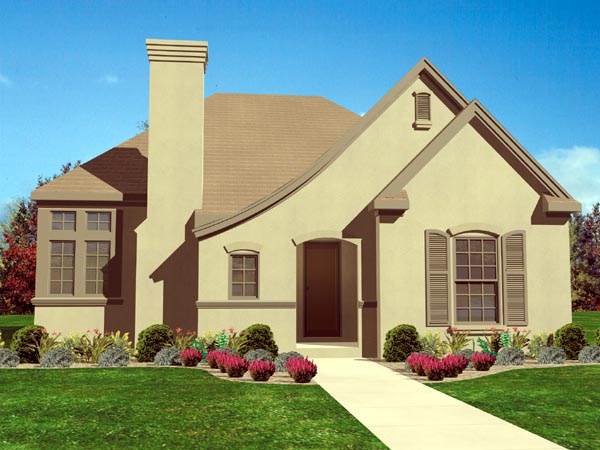 European House Plan 95710 Elevation