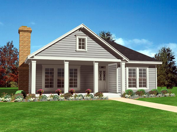 Country, Southern House Plan 95711 with 3 Beds, 2 Baths, 2 Car Garage Elevation