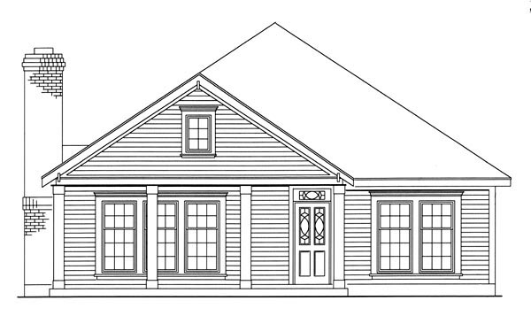 Country, Southern House Plan 95711 with 3 Beds, 2 Baths, 2 Car Garage Picture 1