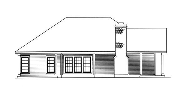 Country, Southern House Plan 95711 with 3 Beds, 2 Baths, 2 Car Garage Picture 2