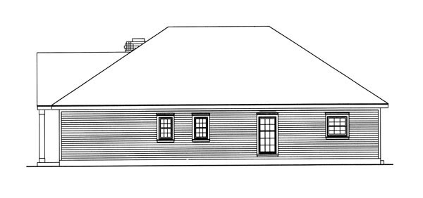 Country, Southern House Plan 95711 with 3 Beds, 2 Baths, 2 Car Garage Picture 3