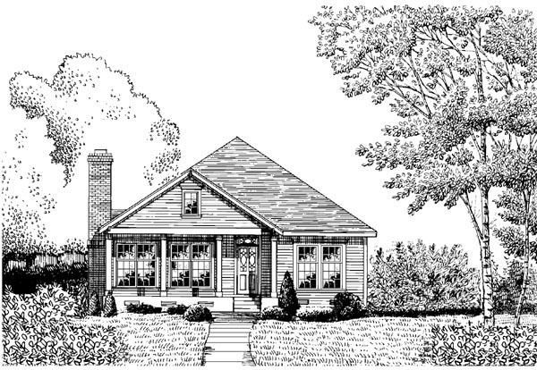 Country House Plan 95712 with 3 Beds, 2 Baths, 2 Car Garage Elevation