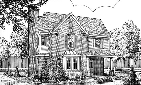 Country European House Plan 95714 Elevation