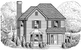 House Plan 95716 | Country European Style Plan with 1760 Sq Ft, 3 Bedrooms, 3 Bathrooms, 2 Car Garage Elevation