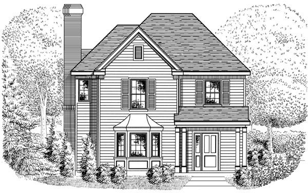Country , European House Plan 95716 with 3 Beds, 3 Baths, 2 Car Garage Elevation