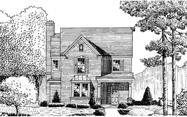 European House Plan 95717 Elevation