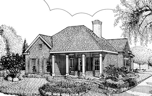 Colonial Country Southern House Plan 95718 Elevation