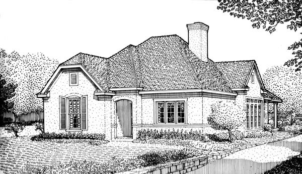 European House Plan 95719 Elevation