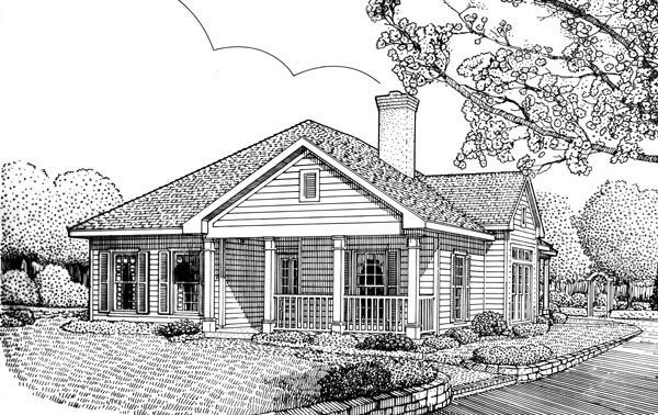 Colonial Country Southern House Plan 95720 Elevation