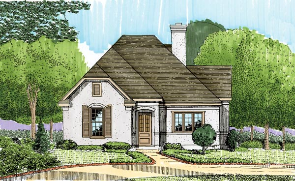 European House Plan 95721 Elevation