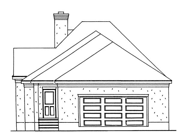 European House Plan 95721 Rear Elevation