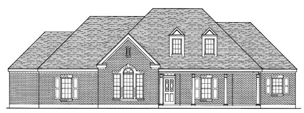 Country European House Plan 95724 Elevation