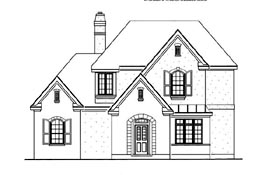 Country European House Plan 95729 Elevation