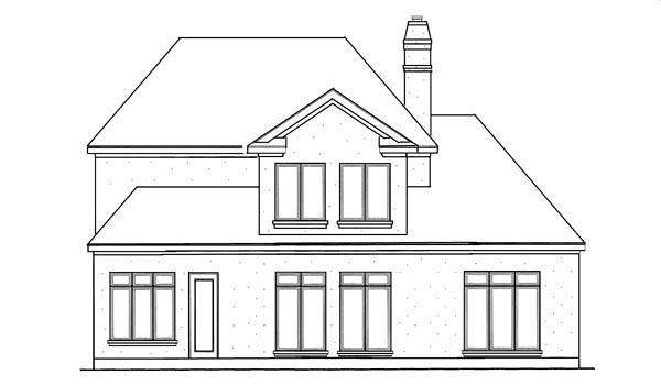 Country European House Plan 95729 Rear Elevation