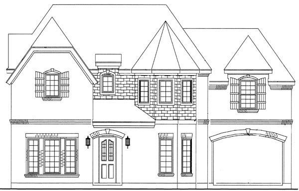 House Plan 95731 Elevation