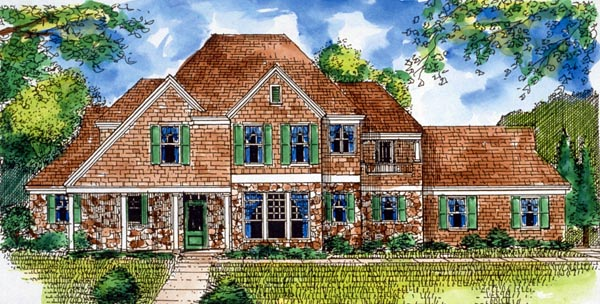 Country European House Plan 95734 Elevation