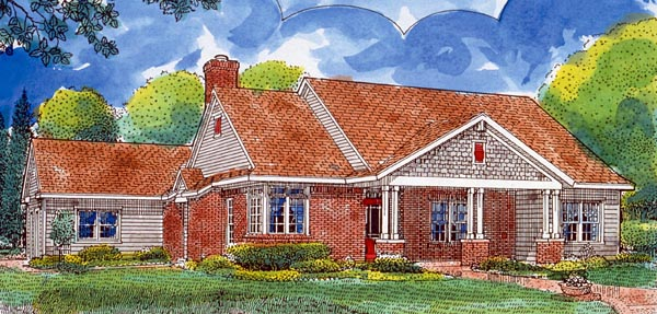 Country Southern House Plan 95737 Elevation