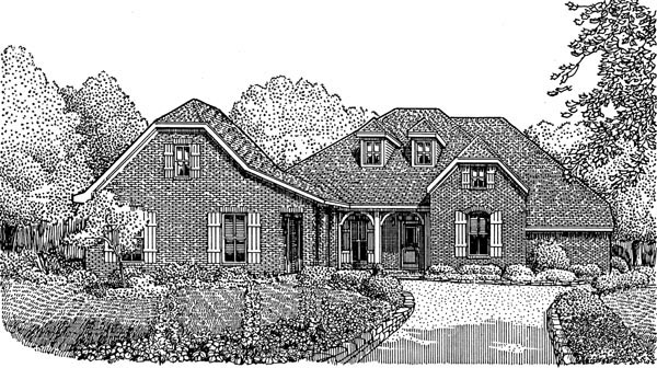 Country European House Plan 95740 Elevation