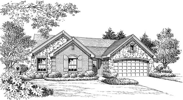 Cottage, Country, Craftsman, Ranch House Plan 95800 with 4 Beds, 2 Baths, 2 Car Garage Picture 3