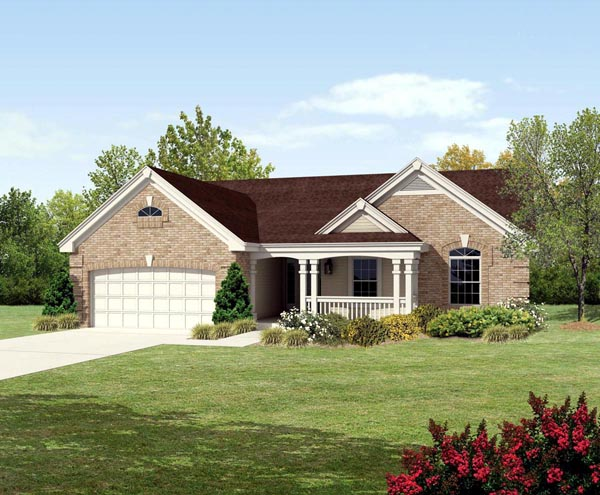 Country Traditional House Plan 95801 Elevation
