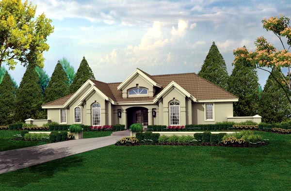 Florida Ranch Southwest House Plan 95804 Elevation