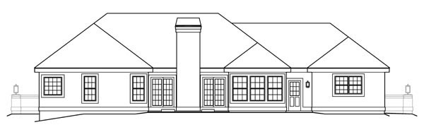 Florida Ranch Southwest House Plan 95804 Rear Elevation