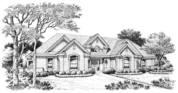 Ranch, Traditional House Plan 95805 with 3 Beds, 3 Baths, 3 Car Garage Picture 3