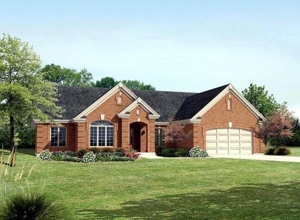 Ranch , Traditional House Plan 95808 with 4 Beds, 3 Baths, 2 Car Garage Elevation