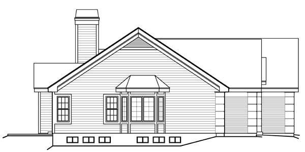 Ranch, Traditional House Plan 95808 with 4 Beds, 3 Baths, 2 Car Garage Picture 1