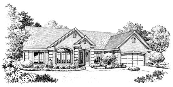 Ranch, Traditional House Plan 95808 with 4 Beds, 3 Baths, 2 Car Garage Picture 3