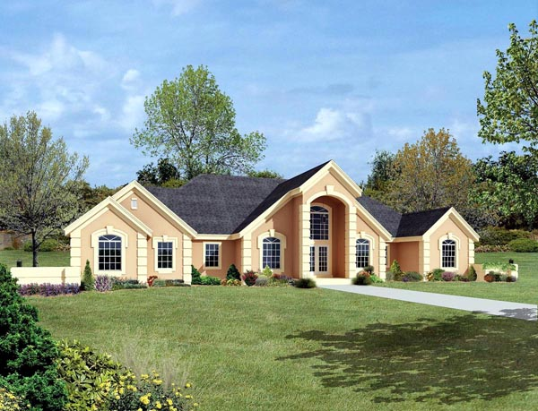 Ranch Southern Traditional House Plan 95809 Elevation