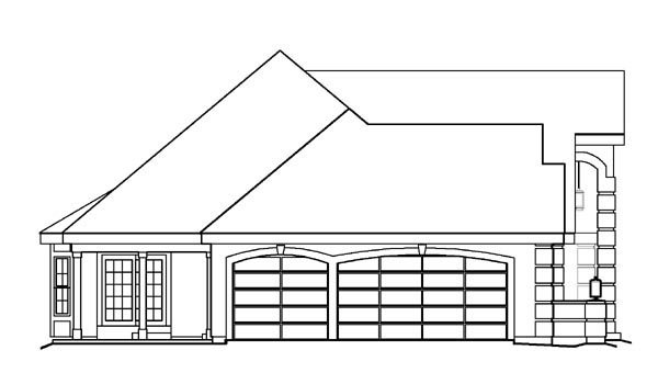 Ranch, Southern, Traditional House Plan 95809 with 3 Beds, 3 Baths, 3 Car Garage Picture 1