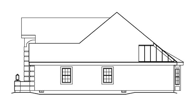 Ranch, Southern, Traditional House Plan 95809 with 3 Beds, 3 Baths, 3 Car Garage Picture 2