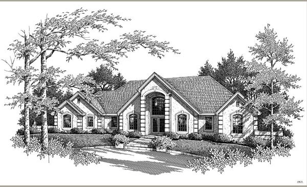 Ranch, Southern, Traditional House Plan 95809 with 3 Beds, 3 Baths, 3 Car Garage Picture 3
