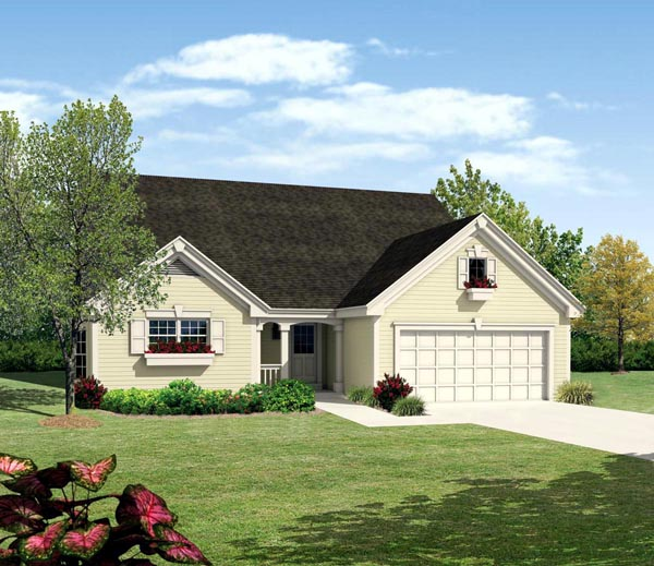 Traditional House Plan 95811 with 4 Beds, 4 Baths, 2 Car Garage Elevation