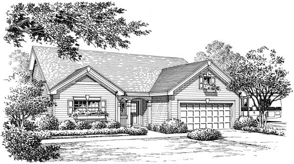 Traditional House Plan 95811 with 4 Beds, 4 Baths, 2 Car Garage Picture 3