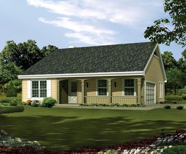 Country Ranch Traditional House Plan 95814 Elevation