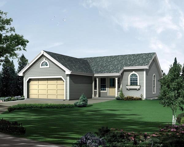 Country Ranch Traditional House Plan 95815 Elevation