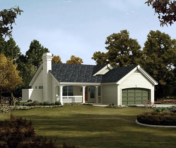 Country Ranch Traditional House Plan 95816 Elevation