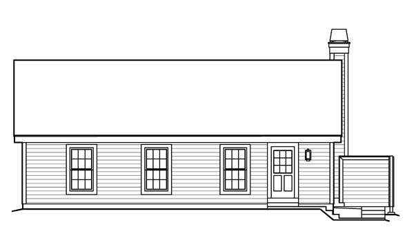 Country Ranch Traditional House Plan 95816 Rear Elevation