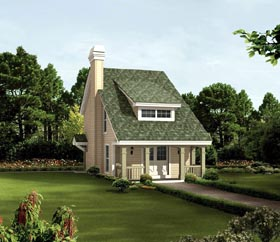 Traditional , Country , Cottage , Cabin , Bungalow House Plan 95817 with 2 Beds, 2 Baths Elevation