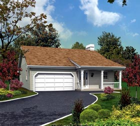 Plan Number 95818 - 1171 Square Feet