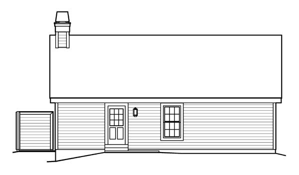 Cabin, Cottage, Country, Ranch, Traditional House Plan 95818 with 3 Beds, 2 Baths, 2 Car Garage Rear Elevation