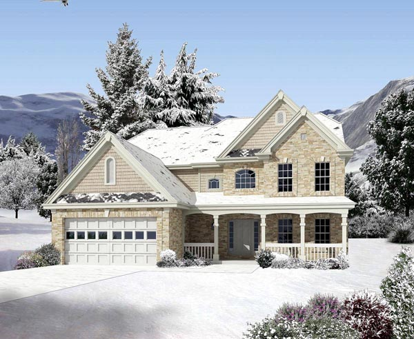 Country Traditional House Plan 95820 Elevation