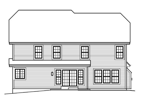 Country Traditional House Plan 95820 Rear Elevation