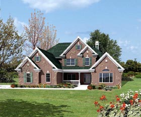Country Traditional House Plan 95821 Elevation